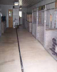 Kennel with warm radiant heated floors.